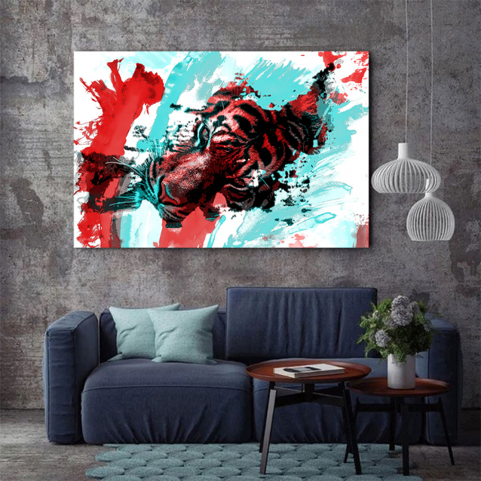 Tablou Canvas - Tiger splash 1