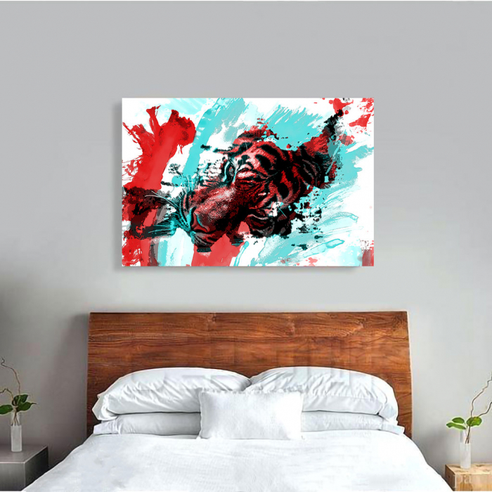 Tablou Canvas - Tiger splash 2