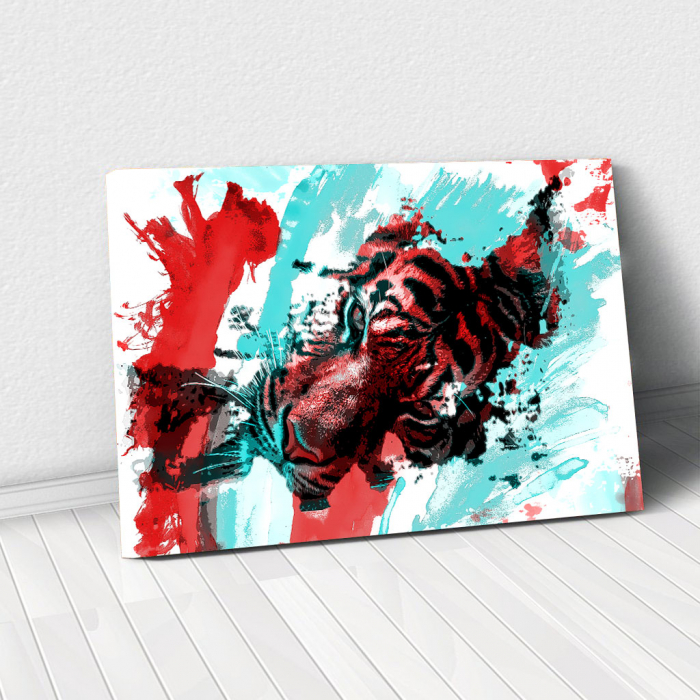 Tablou Canvas - Tiger splash 0