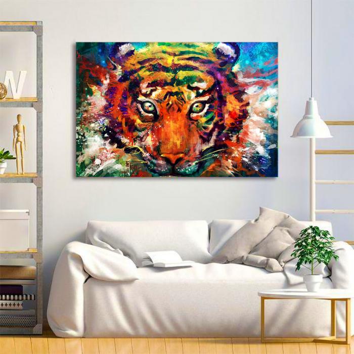 Tablou Canvas - Tiger artwork 3