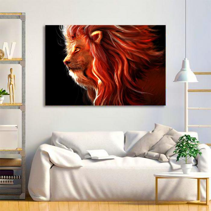 Tablou Canvas - Lion creativ 1