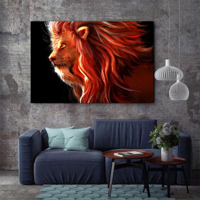 Tablou Canvas - Lion creativ 2