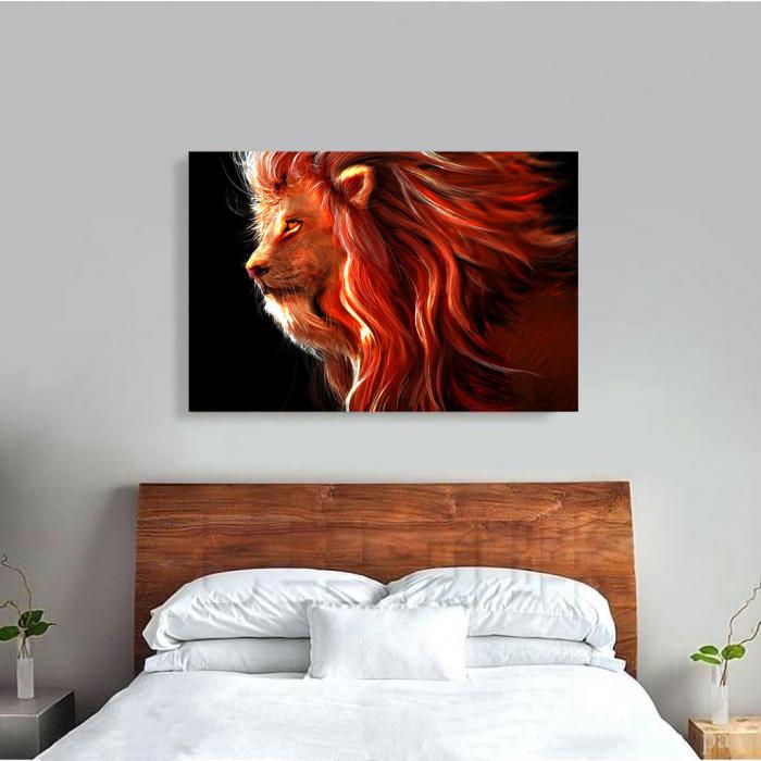 Tablou Canvas - Lion creativ 3
