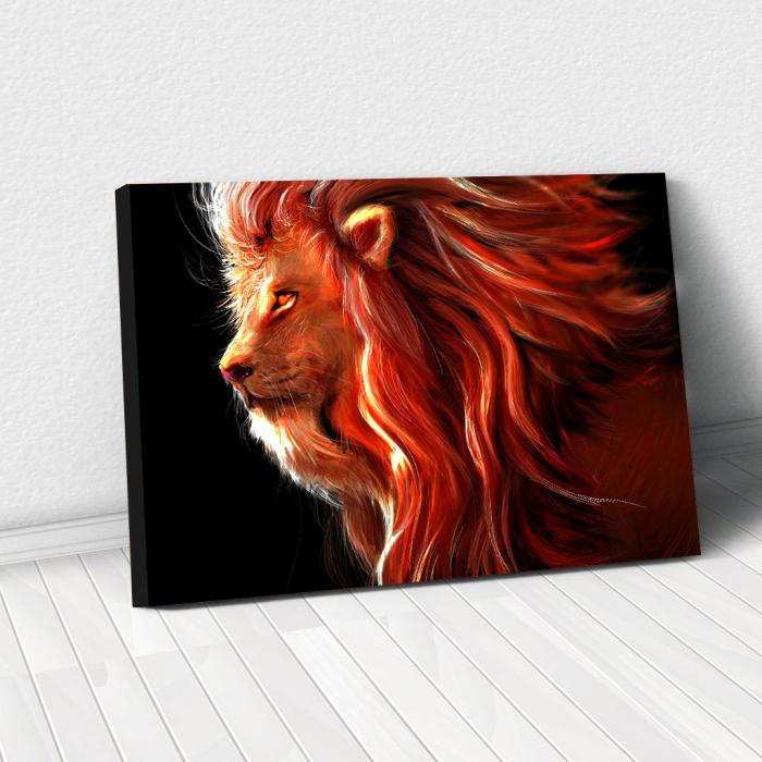 Tablou Canvas - Lion creativ 0