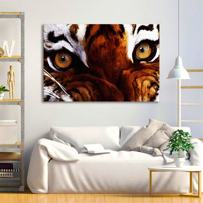 Tablou Canvas - Tiger eyes 1