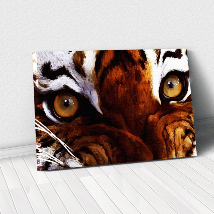 Tablou Canvas - Tiger eyes 0