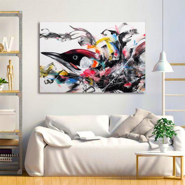 Tablou Canvas - Grafitti bird 1