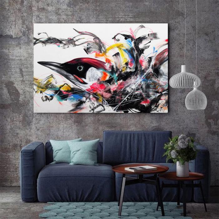 Tablou Canvas - Grafitti bird 2