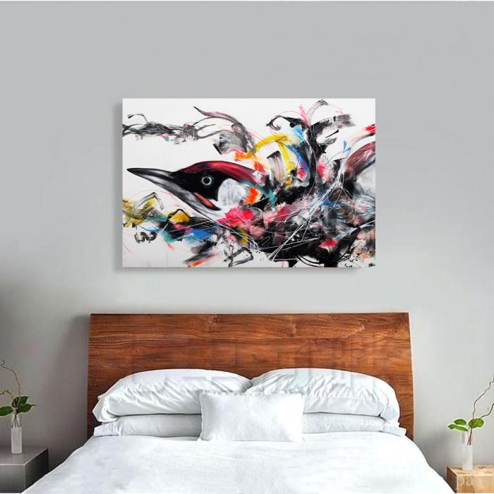 Tablou Canvas - Grafitti bird 3