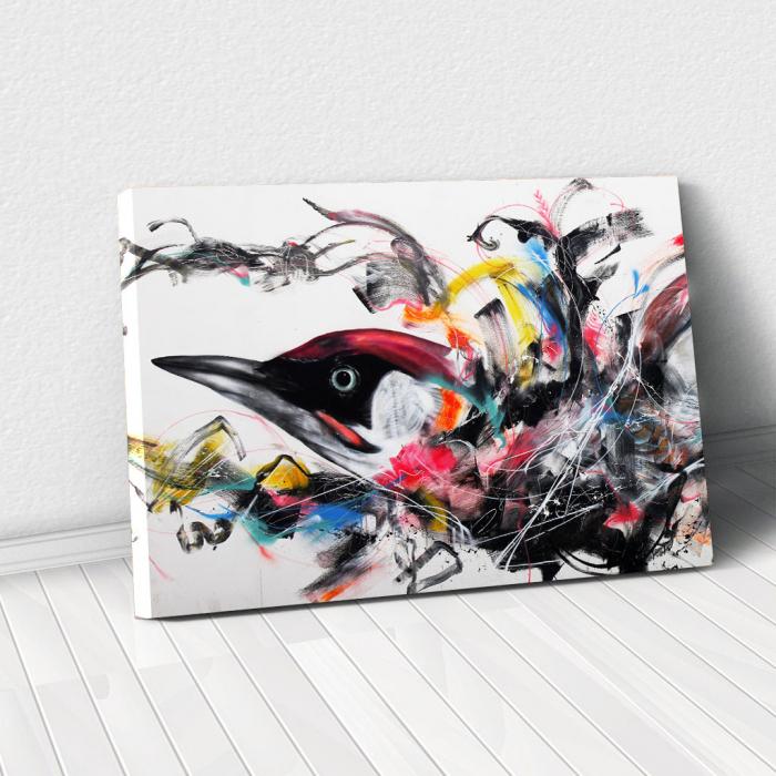 Tablou Canvas - Grafitti bird 0