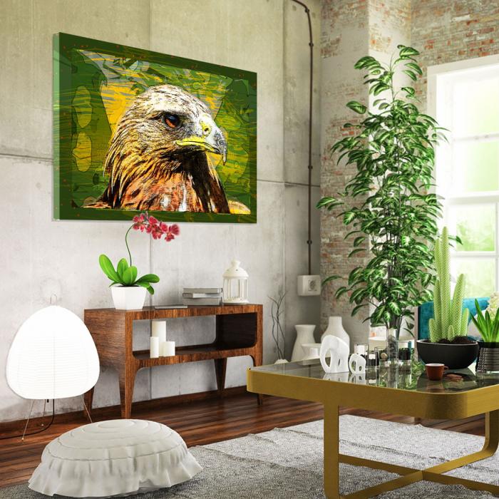 Tablou Canvas - Vultur cromatic 1