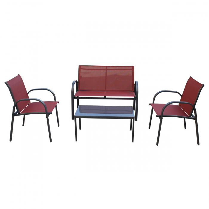 Set masă dreptunghiulară cu 2 scaune + 1 canapea 0