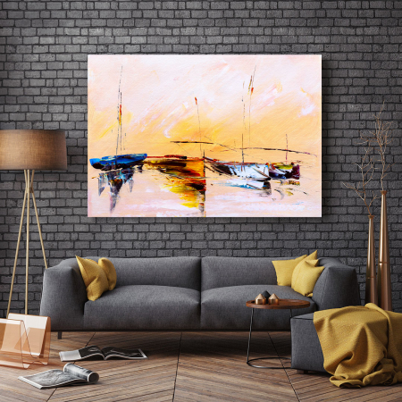 Tablou Canvas - Painting Boat2