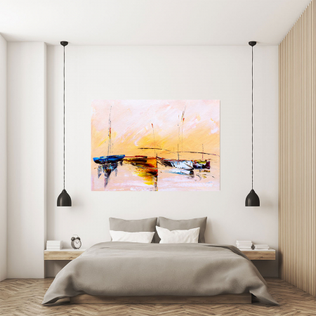 Tablou Canvas - Painting Boat3