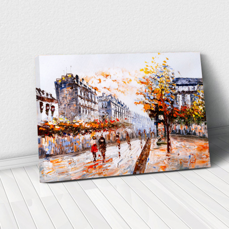 Tablou Canvas - Autumn over town0