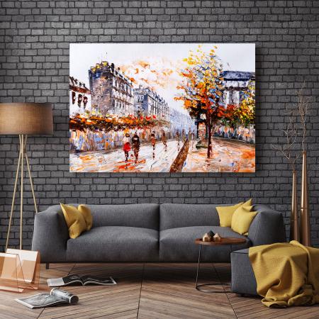 Tablou Canvas - Autumn over town2