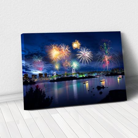 Tablou Canvas - Tokyo Fireworks0