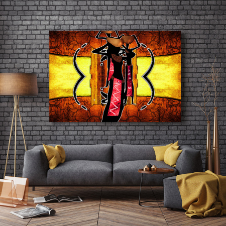Tablou Canvas - African Ethno Ilustration [2]