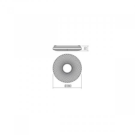 Plafoniera LED ,alb cu efect de sclipire1