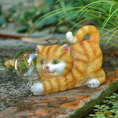 Lampă solară Led-pisică [1]