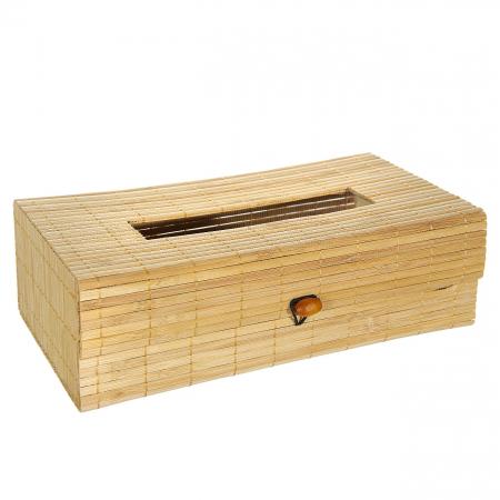 Suport din bambus pentru șervețele.26x14x9 cm [0]