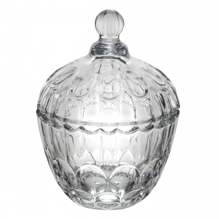 Bombonieră din sticlă cu capac 750ml1