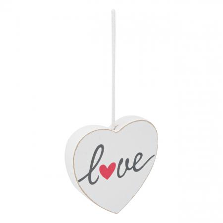 Inimă albă decorativă.9x9 cm0
