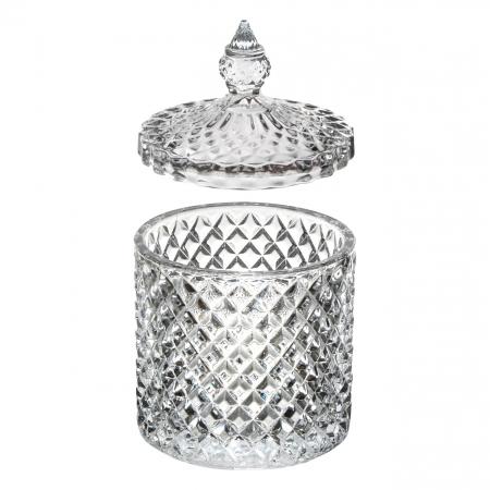 Bombonieră din sticlă cu capac 550ml [0]