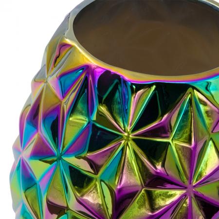 """Vază """"Cameleon"""" din ceramică cu design în relief și culori multiple.20 cm [1]"""