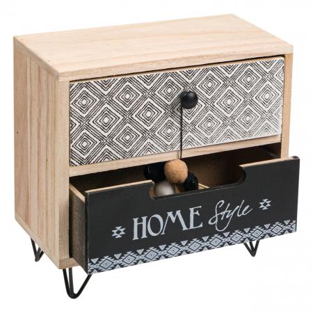 """Cutie din lemn decorativă""""HOME STYLE""""20x10x20 cm2"""