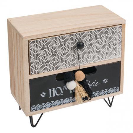 """Cutie din lemn decorativă""""HOME STYLE""""20x10x20 cm1"""