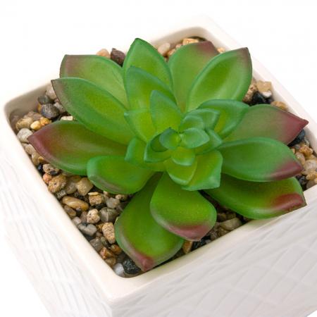 Ghiveci din ceramică cu floare ornamentală0