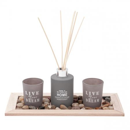 Set  lumânări pe suport din lemn2