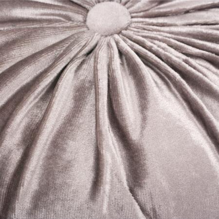 Pernă decorativă din catifea cu buton - gri argintiu 36 cm [2]