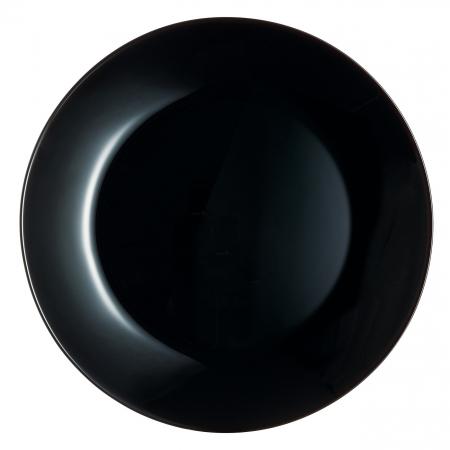 Farfurie neagră pentru servire.18 cm.1