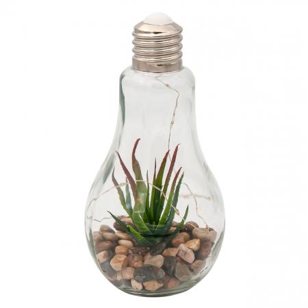 Bec decorativ cu Led și plante.11x22 cm0