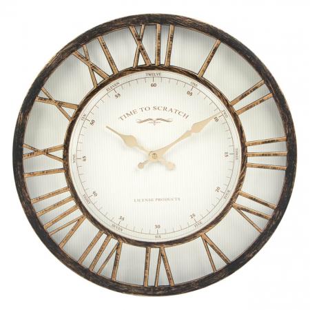 Ceas de perete , bronz numere romane 3d/ 40,6cm0