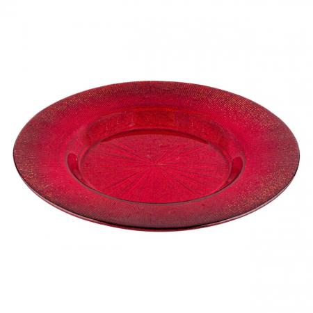 Farfurie pentru fructe roșie.21 cm0