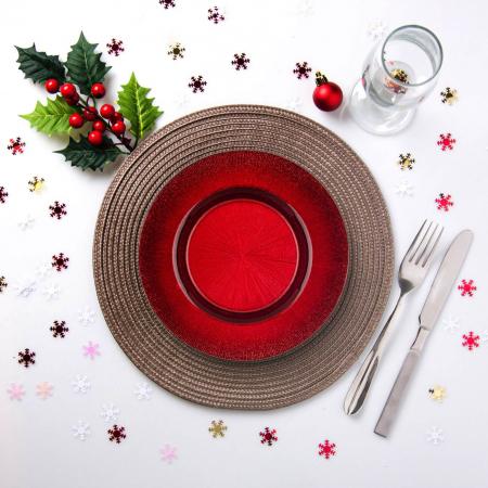Farfurie pentru fructe roșie.21 cm2