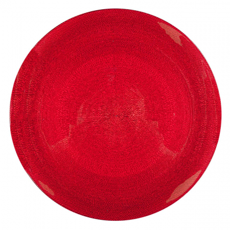 Farfurie roșie.27,5 cm1
