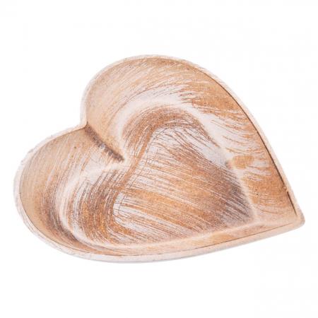 Platou decorativ în formă de inimă.1