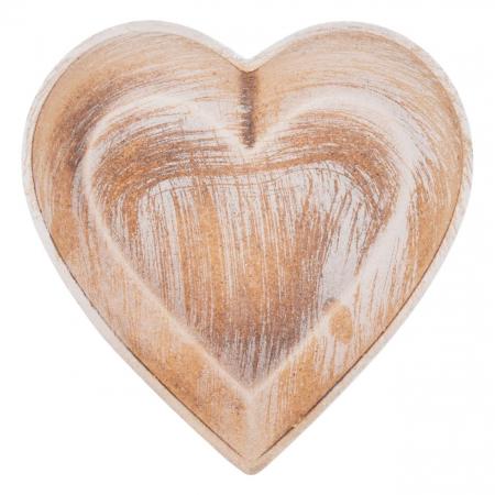 Platou decorativ în formă de inimă.0