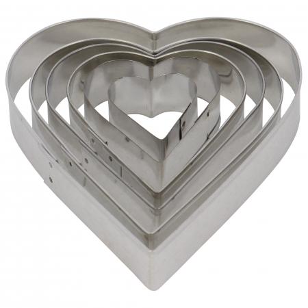 Set 6 forme pentru prăjituri în formă de inimă [1]