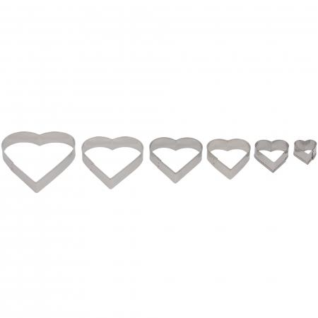 Set 6 forme pentru prăjituri în formă de inimă [0]