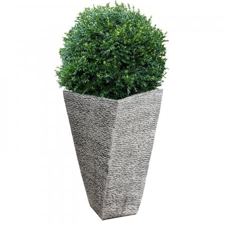 Ghiveci din beton  alb pentru exterior.40 x 74 cm [1]