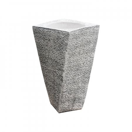 Ghiveci din beton  alb pentru exterior.40 x 74 cm0