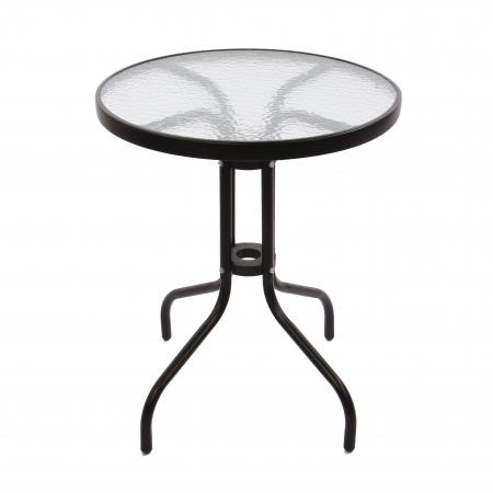 Set masă rotundă, cu 2 scaune pentru grădină2