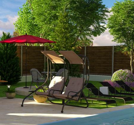 Balansoar  de grădină Confort, 2 persoane.2