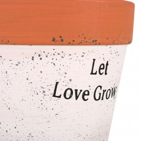 "Ghiveci ceramic alb""Let love grow"",14x12 cm [1]"