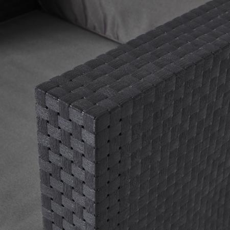 Set mobilier grădină, canapea + masă + 2 fotolii, culoare gri [4]
